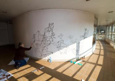Biennale de Gentilly - accrochage - photo D.Martigne