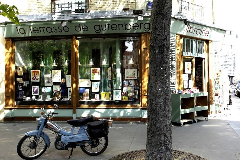 Etienne de Bary à la librairie la Terrasse de Gutemberg